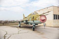Flogger H Jet Fighter di BN di MIG 23 Fotografia Stock Libera da Diritti