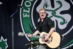 Flogging Molly. Dave King of Flogging Molly during performance on festival Rock for People, July 5, 2012 Royalty Free Stock Image