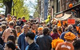 Flohmarkt auf Kingday stockfoto