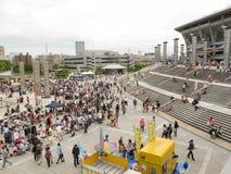 Flohmarkt bei Nissan Stadium in Shin-Yokohama, Japan Stockbild
