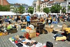 Flohmarkt in Brüssel, Belgien Lizenzfreies Stockfoto