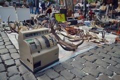 Flohmarkt in Brüssel, Belgien Lizenzfreies Stockbild