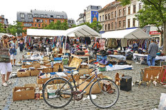 Flohmarkt an De Balle Place du Jeu Stockbild