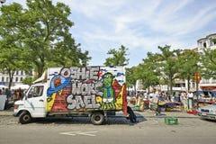 Flohmarkt an De Balle Place du Jeu Stockbilder