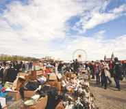 Flohmarkt der MÜNCHEN-geöffneten Luft Lizenzfreie Stockfotografie