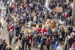 Flohmarkt, Els Encants Vells, Barcelona Stockbild