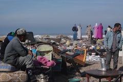 Flohmarkt in Essaouira stockfoto