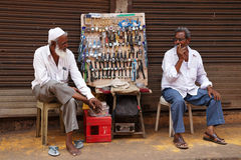 Flohmarkt in Goa, Indien Lizenzfreie Stockfotos