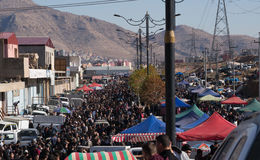 Flohmarkt im Irak Lizenzfreies Stockfoto