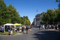 Flohmarkt in Kopenhagen Lizenzfreie Stockfotos