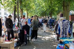 Flohmarkt in Kopenhagen Lizenzfreie Stockfotografie