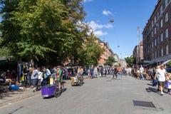 Flohmarkt in Kopenhagen Stockfotografie