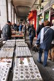 Flohmarkt in Madrid Stockbilder