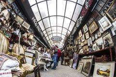 Flohmarkt Monastiraki Sonntag stockfoto