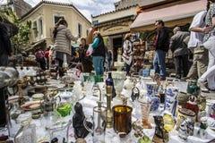 Flohmarkt Monastiraki Sonntag lizenzfreie stockfotos