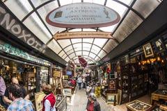 Flohmarkt Monastiraki Sonntag lizenzfreies stockbild
