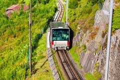 Floibanen funicular in Bergen Stock Photo