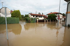 Flood. In Miren - Slovenia, Europe royalty free stock image