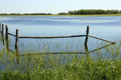The Flood. A flooded farm field Royalty Free Stock Photography