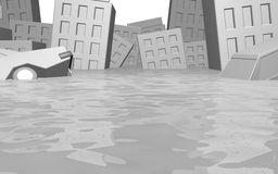 The Flood. CG image representing the Flood Royalty Free Stock Photo