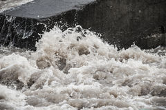 Flood. A flood - a wild water river royalty free stock photos