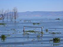 Flood. Ed Soccer Field Stock Images