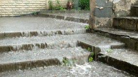 Flood anomaly rain weather. Its anomaly weather disaster rain storm Ukraine stock footage