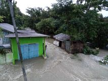 Flood. In Assam people face problem in royalty free stock image