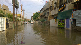 Flood Baghdad Stock Photography