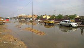Flood Baghdad Stock Photo