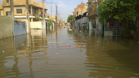 Flood Baghdad Royalty Free Stock Photography