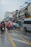 Flood in Bangkok 2012 Royalty Free Stock Photo