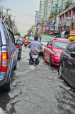 Flood in Bangkok 2012 Royalty Free Stock Photography