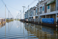 Flood in Bangkok, Thailand. Bangkok, Thailand - November 16: The house that was flooded during the construction of 16 November 2011 at Pathum Thani. Bangkok Royalty Free Stock Image