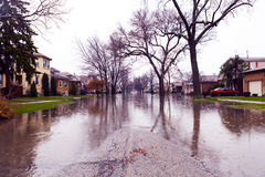 Flood. Big Flood After Dramatic Storm royalty free stock photography