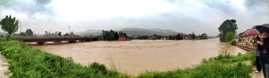 Flood in Bosnia Royalty Free Stock Photography