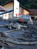 Flood in Bosnia Stock Photo
