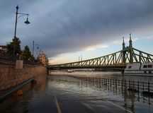 Flood. In Budapest in 2013 royalty free stock photos