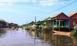 Flood in cambodia Stock Image