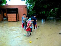 Flood caused by typhoon Mario (international name Fung Wong) in the Philippines on September 19, 2014 Stock Image