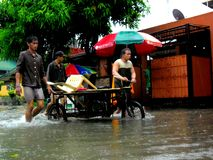 Flood caused by typhoon Mario (international name Fung Wong) in the Philippines on September 19, 2014 Stock Images