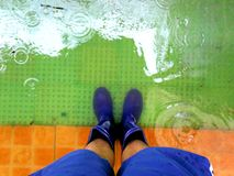 Flood caused by typhoon Mario (international name Fung Wong) in the Philippines on September 19, 2014 Stock Photo