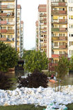 Flood in the city Royalty Free Stock Photography