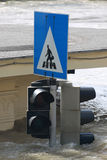 Flood. In the city, Budapest Stock Image