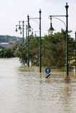 Flood. In the city, Budapest Royalty Free Stock Photo