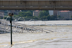 Flood. In the city, Budapest Royalty Free Stock Image