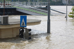 Flood. In the city, Budapest Stock Photography