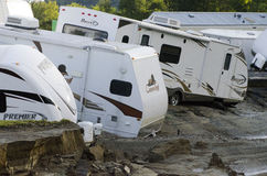 Flood Damage Berlin Vermont : Hurricane Irene Stock Image