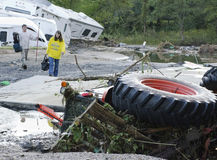 Flood Damage Berlin Vermont : Hurricane Irene. M's RV Sales and Service suffered massive flood damage caused by Hurricane/Tropical Storm Irene's passage through Stock Images