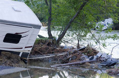 Flood Damage Berlin Vermont : Hurricane Irene Stock Photography